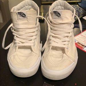 High top Authentic VAN Sneakers in white M8/W10